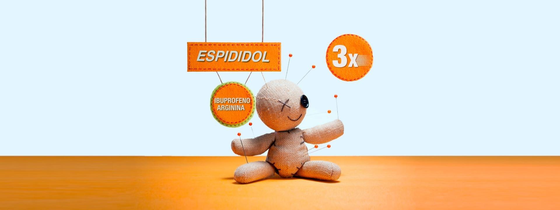 Espididol se absorbe 3 veces más rápido que el Ibuprofeno solo